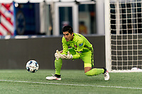 FOXBOROUGH, UNITED STATES - AUGUST 21: Akira Fitzgerald #1 of Richmond Kickers makes a save during a game between Richmond Kickers and New England Revolution II at Gillette Stadium on August 21, 2020 in Foxborough, Massachusetts.
