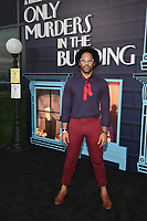 """NEW YORK CITY - AUG 24: Actor Johnathan Fernandez attends the screening of Hulu's """"Only Murders in the Building"""" at The Greens at Pier 17 on August 24, 2021 in New York City. (Photo by Frank Micelotta/Hulu/PictureGroup)"""