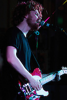 08 APR 2016 - STOWMARKET, GBR - James Betts on vocals and lead guitar for The Baskervilles during a recording for BBC Introducing at the John Peel Centre for Creative Arts in Stowmarket, Suffolk, Great Britain (PHOTO COPYRIGHT © 2016 NIGEL FARROW, ALL RIGHTS RESERVED)