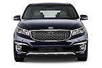 Car photography straight front view of a 2015 KIA Sedona SX Limited 4 Door Minivan Front View