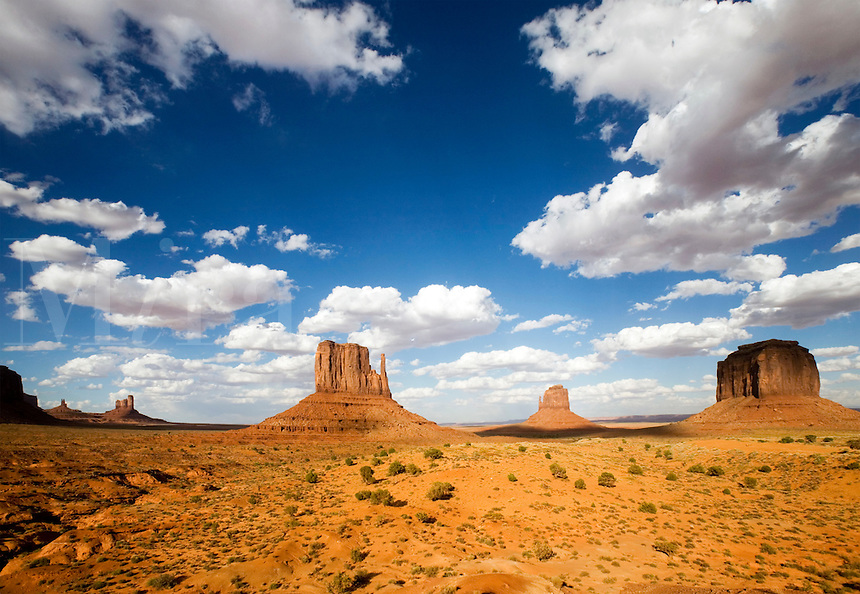 A panorama view of Monument Valley