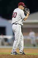 Mahoning Valley Scrappers pitcher Nick Kirk (30) during a game vs. the Batavia Muckdogs at Dwyer Stadium in Batavia, New York August 2, 2010.   Batavia defeated Mahoning Valley 6-3 in 10 innings.  Photo By Mike Janes/Four Seam Images
