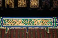 China, Kaiserpalast von Peking, Tor der himmlischen Reinheit, Decke; Unesco-Weltkulturerbe