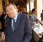 GIULIO ANDREOTTI<br /> INAUGURAZIONE NUOVA SEDE DELLA BIBLIOTECA DEL SENATO -<br /> PIAZZA DELLA MINERVA ROMA 2003