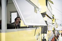 talking for hours on end to inform the spectators on site up Luz Ardiden<br /> <br /> Stage 18 from Pau to Luz Ardiden (130km)<br /> 108th Tour de France 2021 (2.UWT)<br /> <br /> ©kramon