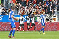 Valencia CF's players celebrate goal during La Liga match. October 28,2017. (ALTERPHOTOS/Acero) /NortePhoto.com