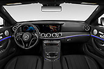 Stock photo of straight dashboard view of 2021 Mercedes Benz E-Class-Sedan E350 4 Door Sedan Dashboard