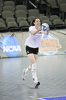 Omaha, NE - DECEMBER 20:  Outside hitter/setter Cassidy Lichtman #8 of the Stanford Cardinal during Stanford's 2008 NCAA Division I Women's Volleyball Final Four Championship closed practice before playing the Penn State Nittany Lions on December 20, 2008 at the Qwest Center in Omaha, Nebraska.