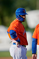 New York Mets Robinson Cano (4), on rehab assignment with the Syracuse Mets, during a game against the Charlotte Knights on June 11, 2019 at NBT Bank Stadium in Syracuse, New York.  (Mike Janes/Four Seam Images)