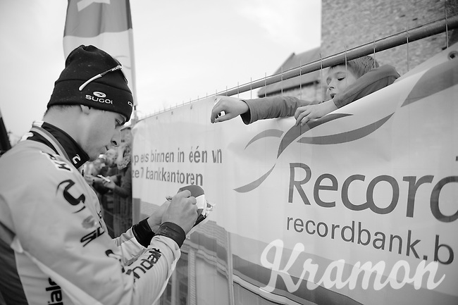 Peter Sagan (SVK/Cannondale) making a kid very happy<br /> <br /> 57th E3 Harelbeke 2014