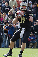 Purdue quarterback Caleb TerBush.The Michigan Wolverines defeated the Purdue Boilermakers 44-13 on October 6, 2012 at Ross-Ade Stadium in West Lafayette, Indiana.