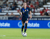 HOUSTON, TX - JUNE 13: Tierna Davidson #12 of the USWNT dribbles during a game between Jamaica and USWNT at BBVA Stadium on June 13, 2021 in Houston, Texas.