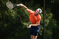 WASHINGTON, DC - AUGUST 1: Tommy Paul (USA) practices ahead of the 2021 Citi Open at Rock Creek Park Tennis Center on August 1, 2021 in Washington, DC.