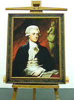 """Thomas Jefferson, <br /> Framed Digital Reproduction: 43"""" x 35 12/""""<br /> Stretcher Size 35 3/4 """" x  28 1/2"""" <br /> <br /> Original Image Information:  Thomas Jefferson by Mather Brown(1761-1831)  Oil on canvas, 90.8 x 72.4 cm, 1786. Bequest of Charles Francis Adams."""