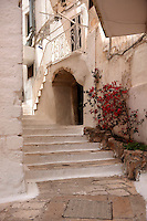 The alleys and narrow streets of the white city of Ostuni, Puglia, South Italy.