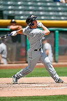 Auston Bousfield (11) of the El Paso Chihuahuas at bat against the Salt Lake Bees in Pacific Coast League action at Smith's Ballpark on July 10, 2016 in Salt Lake City, Utah. El Paso defeated Salt Lake 11-2. (Stephen Smith/Four Seam Images)