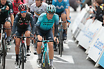 The peloton including Jakob Fuglsang (DEN) Astana-Premier Tech and Richie Porte (AUS) Ineos Grenadiers crosses the finish line at the end of Stage 16 of the 2021 Tour de France, running 169km from Pas de la Case to Saint-Gaudens, Andorra. 13th July 2021.  <br /> Picture: Colin Flockton   Cyclefile<br /> <br /> All photos usage must carry mandatory copyright credit (© Cyclefile   Colin Flockton)