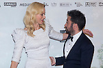 08.10.2012. The film team attends the premiere of Kinepolis Cinema in Madrid of the movie 'The Impossible'. Directed by Juan Antonio Bayona and starring by  Naomi Watts and Tom Holland. In the image Naomi Watts and Juan Antonio Bayona (Alterphotos/Marta Gonzalez)