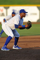 Omaha Storm Chasers third baseman Irving Falu #12 in his stance during the game against the Reno Aces at Werner Park on August 3, 2012 in Omaha, Nebraska.(Dennis Hubbard/Four Seam Images)
