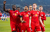 Fußball: 1. Bundesliga, Saison 2019/2020, 23. Spieltag, FC Schalke 04 - RB Leipzig am 22.02.2020 in der Veltins Arena in Gelsenkirchen Nordrhein-Westfalen. Torjubel, Jubel, Freude von Marcel HALSTENBERG RB Leipzig halbe Figur, DFL REGULATIONS PROHIBIT ANY USE OF PHOTOGRAPHS AS IMAGE SEQUENCES AND/OR QUASI-VIDEO. *** Football 1 Bundesliga, Season 2019 2020, 23 matchday, FC Schalke 04 RB Leipzig on 22 02 2020 in the Veltins Arena in Gelsenkirchen North Rhine-Westphalia Goal celebration, cheers, joy by Marcel HALSTENBERG RB Leipzig half figure, DFL REGULATIONS Copyright: xChristopherxNeundorf/Kirchner-Mediax<br /> Photo Imago/Insidefoto <br /> ITALY ONLY