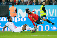 Spain's Isco Alarcon (r) and Costa Rica's Kendall Waston during international friendly match. November 11,2017.(ALTERPHOTOS/Acero) /NortePhoto.com