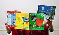 Pictured: Alice Morgan's children with books. Friday 09 June 2017<br /> Re: Alice Morgan (NOT HER REAL NAME) who has spoken about her experience sending her children to Llangennech Primary School in Carmarthenshire Wales, which will be turned into a Welsh only language medium from a bilingual one.