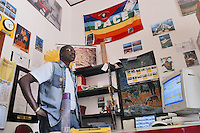 - inside of a phone-center managed by an immigrated from Senegal....- interno di un phone center gestito da immigrato senegalese