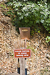 Horse Manure dump station, Austin Creek State Recreation Area, CA.  Views from Austin Creek State Recreation area are dramatic.  The park and campground abut Armstrong Redwoods State Reserve near the Russian River in Northern California wine country.
