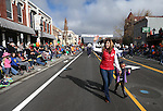 KTVN's Kristen Remington and her daughter march in the annual Nevada Day parade in Carson City, Nev. on Saturday, Oct. 29, 2016. <br />Photo by Cathleen Allison