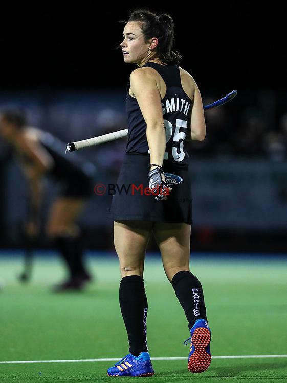 Kelsey Smith during the international hockey match between the Blacksticks Women and India, Rosa Birch Park, Pukekohe, New Zealand. Tuesday 16  May 2017. Photo:Simon Watts / www.bwmedia.co.nz