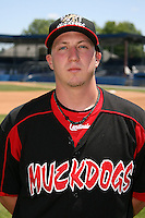 June 16, 2009:  Tyler Lavigne of the Batavia Muckdogs poses for a head shot before the teams practice at Dwyer Stadium in Batavia, NY.  The Batavia Muckdogs are the NY-Penn League Single-A affiliate of the St. Louis Cardinals.  Photo by:  Mike Janes/Four Seam Images