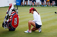 5th September 2021; Toledo, Ohio, USA;  Danielle Kang of Team USA prepares for the first tee during the morning Four-Ball competition during the Solheim Cup on September 5th