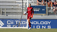 CARY, NC - SEPTEMBER 12: Casey Murphy #1 of the North Carolina Courage holds the ball during a game between Portland Thorns FC and North Carolina Courage at Sahlen's Stadium at WakeMed Soccer Park on September 12, 2021 in Cary, North Carolina.