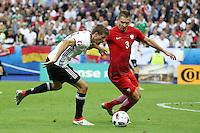Thomas Müller (D) gegen Artur Jedrzejczyk (POL) - EM 2016: Deutschland vs. Polen, Gruppe C, 2. Spieltag, Stade de France, Saint Denis, Paris