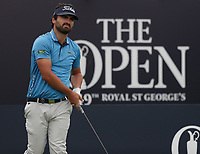 13th July 2021; The Royal St. George's Golf Club, Sandwich, Kent, England; The 149th Open Golf Championship, practice day; Antoine Rozner (FRA) on the 1st tee