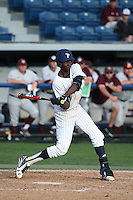 Manny Jefferson (5) of the Pepperdine Waves bats against the Texas A&M Aggies at Eddy D. Field Stadium on February 26, 2016 in Malibu, California. Pepperdine defeated Texas A&M, 7-5. (Larry Goren/Four Seam Images)