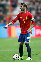 Spain's Sergio Ramos during FIFA World Cup 2018 Qualifying Round match. March 24,2017.(ALTERPHOTOS/Acero) /NortePhoto.com