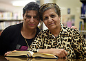 TRAUMA HEALING CASE STUDIES. ASEEL LIOUS, 36, WITH HER MOTHER FATHILA YOUSEF, 67, FROM MOSUL, IRAQ,  IN JORDAN. 20/4/16. PHOTO BY CLARE KENDALL.