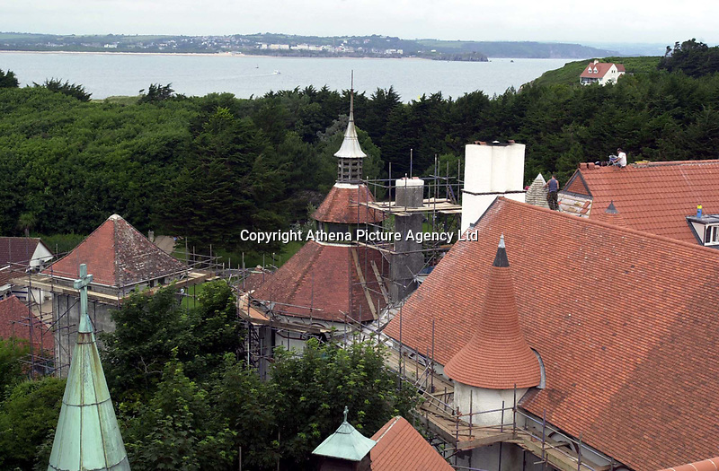 Pictured: Roof top view of the monastery. STOCK PICTURE<br /> Re: Dyfed-Powys Police has received reports of historical sexual abuse perpetrated by a monk on Caldey Island in the 1970s and 1980s.<br /> The force investigated in 2014 and 2016 but could not prosecute as the monk, Father Thaddeus Kotik, died in 1992.<br /> The Guardian newspaper has reported that Caldey Abbey has paid compensation to six women who were abused as children.