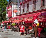Deutschland, Bayern, Berchtesgadener Land, Bad Reichenhall: Café Reber in der Ludwigstrasse | Germany, Upper Bavaria, Berchtesgadener Land, Bad Reichenhall: Café Reber in pedestrian area Ludwigstrasse