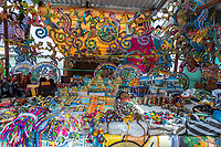 Willemstad, Curacao, Lesser Antilles.  Souvenir Stand in the Market.