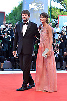 Italian Culture Minister Dario Franceschini and his wife Michela Di Biase walk on the red carpet of the movie 'Downsizing' and opening ceremony of the 74th Venice Film Festival, Venice Lido, August 30, 2017. <br /> UPDATE IMAGES PRESS/Marilla Sicilia<br /> <br /> *** ONLY FRANCE AND GERMANY SALES ***