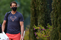 11th April 2021; Roquebrune-Cap-Martin, France;  Rafael Nadal Esp arrives for practise sessions for the  Rolex Monte Carlo Masters