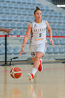 Marjorie Capreaux (9) of Belgium pictured during a basketball game between the national teams of Belgium , called the Belgian Cats , and Nigeria on Sunday 30 th of May 2021 in Kortrijk , Belgium . PHOTO SPORTPIX.BE | SPP | STIJN AUDOOREN
