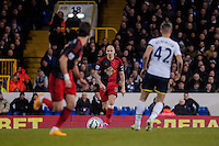 LONDON, ENGLAND - MARCH 04:  Jonjo Shelvey ( centre ) of Swansea City  in action during the Premier League match between Tottenham Hotspur and Swansea City at White Hart Lane on March 4, 2015 in London, England.  (Photo by Athena Pictures )