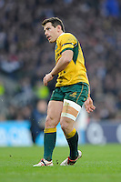Bernard Foley of Australia converts his own try during the QBE International match between England and Australia at Twickenham Stadium on Saturday 29th November 2014 (Photo by Rob Munro)