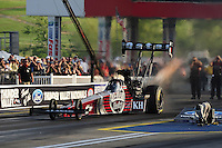 Jun. 17, 2011; Bristol, TN, USA: NHRA top fuel driver Larry Dixon during qualifying for the Thunder Valley Nationals at Bristol Dragway. Mandatory Credit: Mark J. Rebilas-