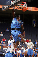 G/F Tony Mitchell (Swainsboro, GA / Swainsboro) dunks the ball during the NBA Top 100 Camp held Friday June 22, 2007 at the John Paul Jones arena in Charlottesville, Va. (Photo/Andrew Shurtleff)