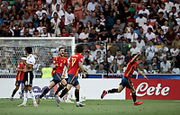 Spain's Fabian Ruiz, left, celebrates after scoring a goal during the Uefa Under 21 Championship 2019 football final match between Spain and Germany at Udine's Friuli stadium, Italy, June 30, 2019. Spain won 2-1.<br /> UPDATE IMAGES PRESS/Isabella Bonotto