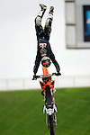 Ronnie Renner practices for the Freestyle Moto-x competition during X-Games 12 in Los Angeles, California on August 4, 2006.